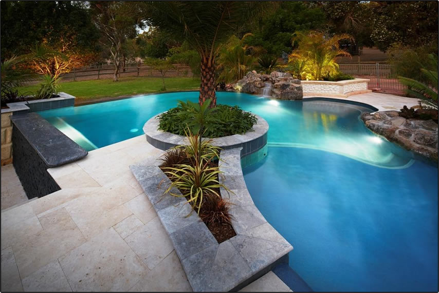 Waters Edge Pool Design And Landscaping Concrete Pools Perth