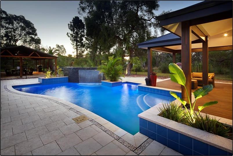Water 39 s edge pool design and landscaping concrete pools - Swimming pool water features perth ...
